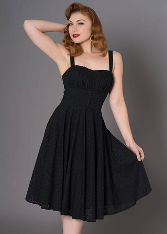 Sheen Bianca 50's Swingkleid Schwarz
