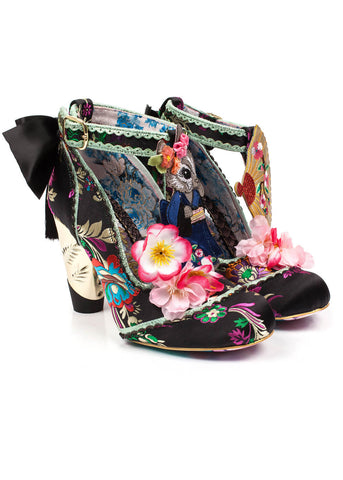 Irregular Choice Blossom Bunny Pumps Schwarz