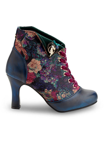 Joe Browns Couture Raven 40er Samtstiefeletten Navy