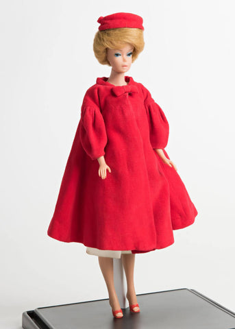 Unique Vintage Barbie Flare 50's Swingmantel Rot