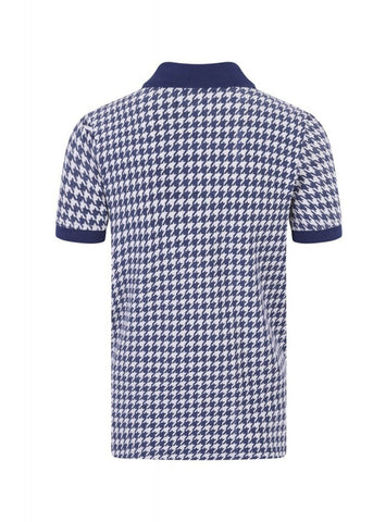 Collectif Herren Pablo Dogtooth Poloshirt Navy