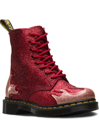 Dr. Martens 1460 Pascal Flame Schnürstiefel Rot