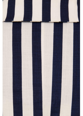 Collectif Brette Striped 50's Swing Kleid Navy Weiß