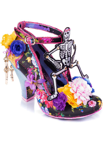 Irregular Choice Halloween Funny Bones Pumps Schwarz Gold