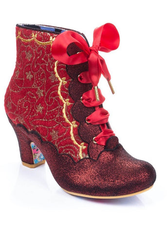 Irregular Choice Chinese Whispers Stiefel Rot