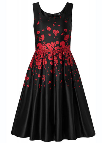 Dolly & Dotty Amanda Poppy 50's Swingkleid Schwarz