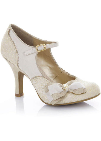 Ruby Shoo Maria Pumps Creme Gold