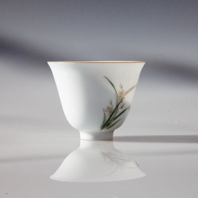 Jingdezhen Porcelain Tea Cup with Lily