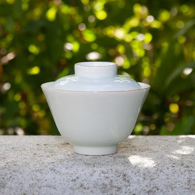Single Colour Glazed Porcelain Gaiwan
