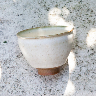 Glazed Pottery Tea Cup (cream)