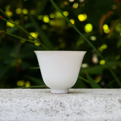 Jingdezhen Porcelain Tea Cup with Thick Bamboo