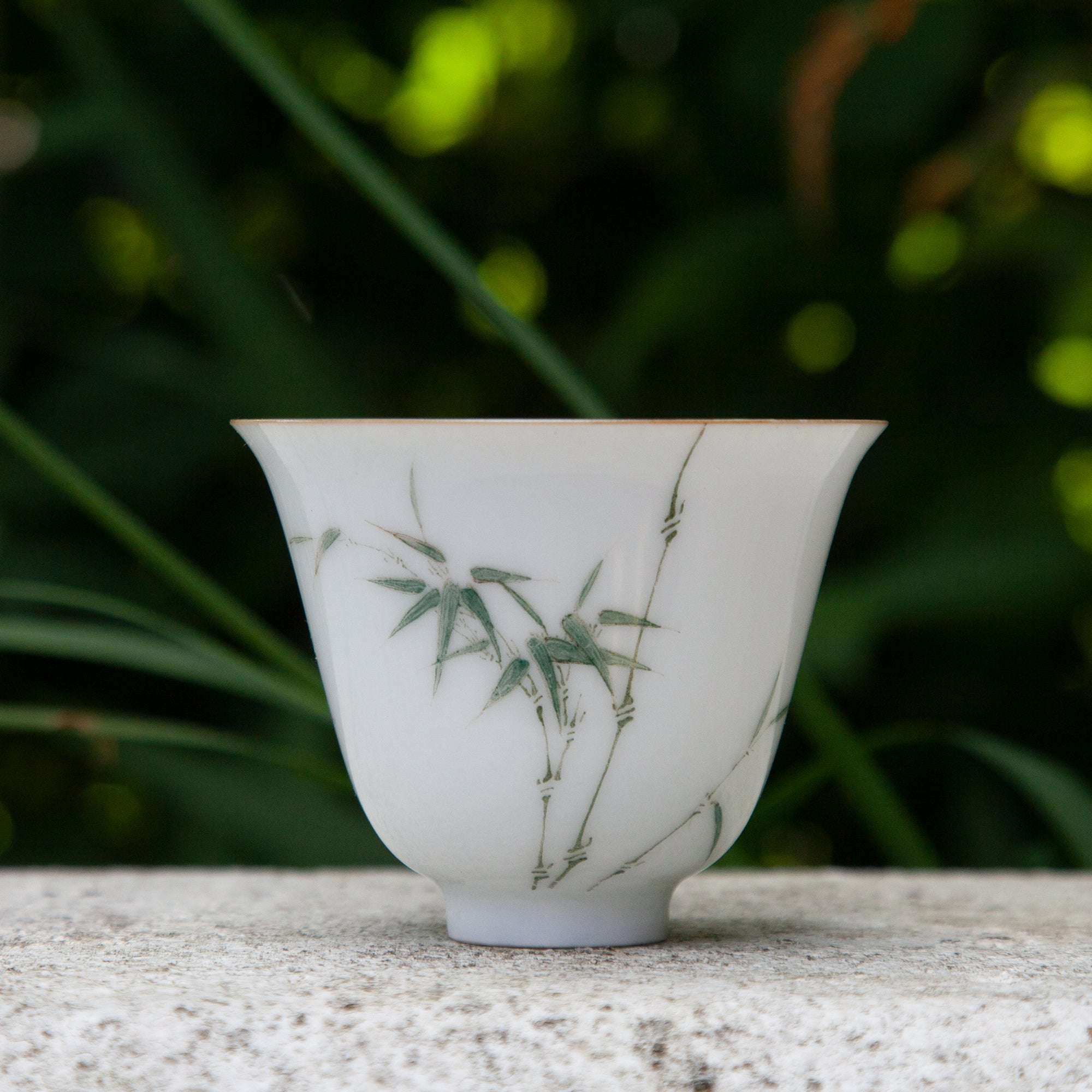 Jingdezhen Porcelain Tea Cup with Thin Bamboo