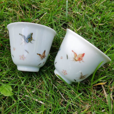 Jingdezhen Porcelain Tea Cup with Butterflies
