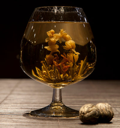 Hand-Tied Flowering Tea - Jasmine, Lily and Green Tea