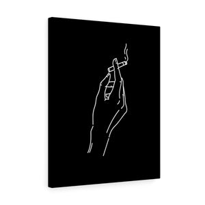 Smoking hand wall canvas - wanabeme