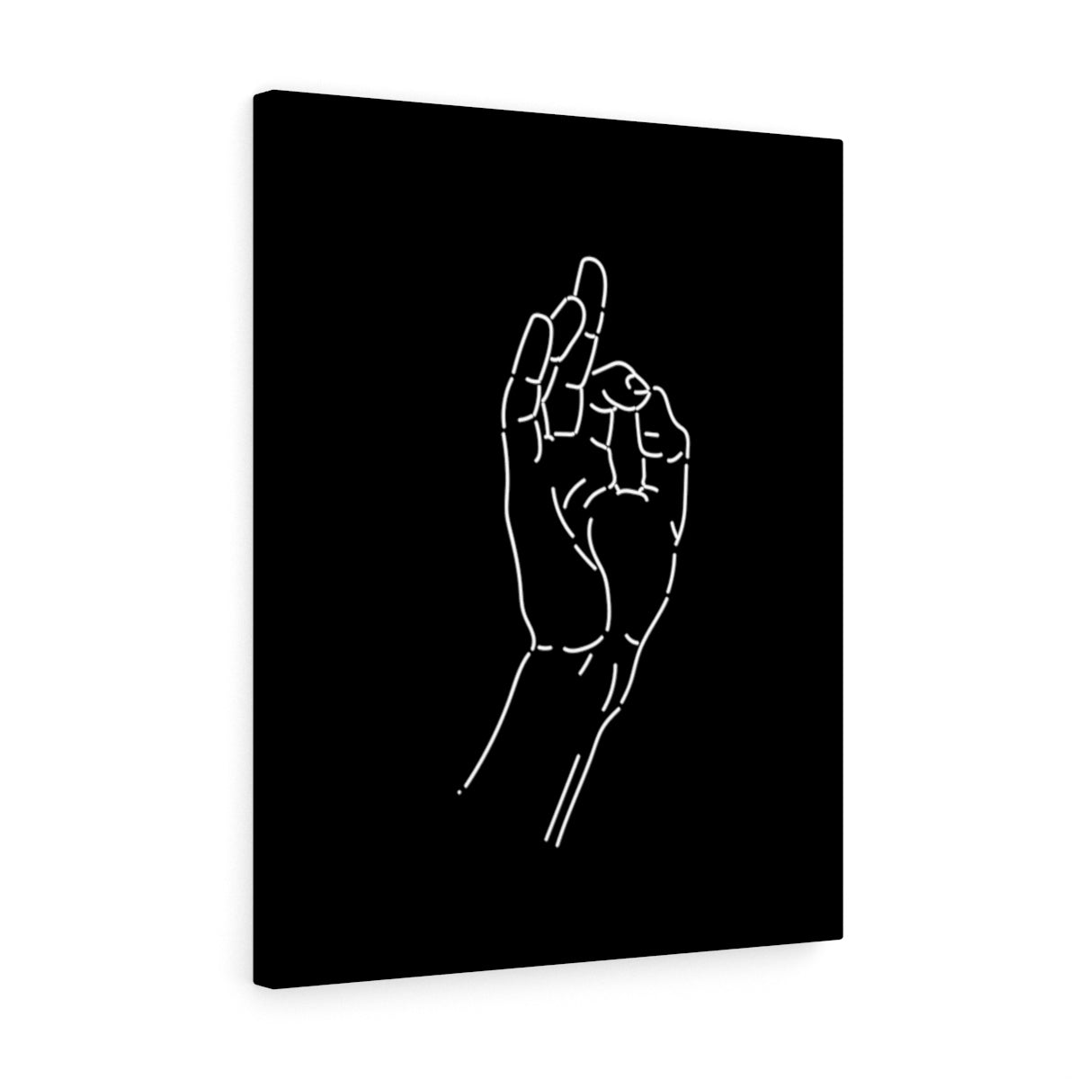 OK hand wall canvas - wanabeme