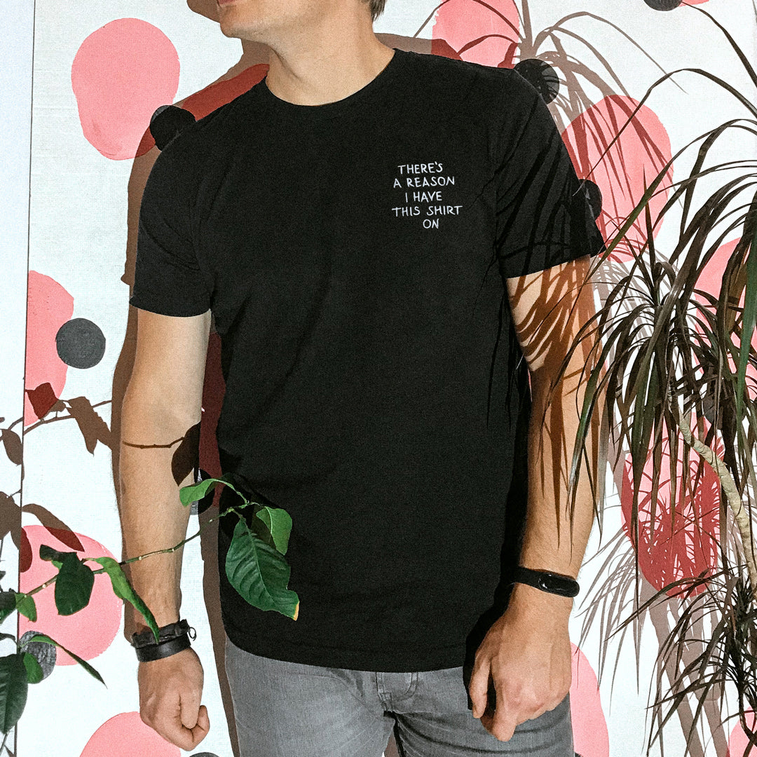 Embroidered Reason T-shirt