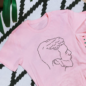 Beardlover T-Shirt pink - wanabeme