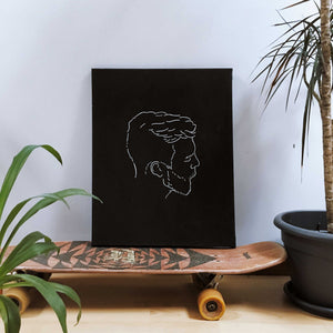 Beardlover wall canvas - wanabeme
