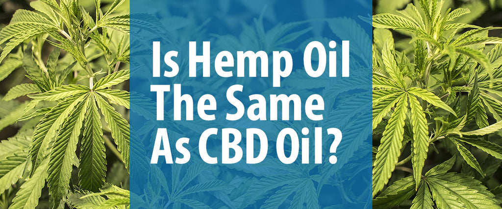 Is Hemp Oil the Same as CBD Oil?