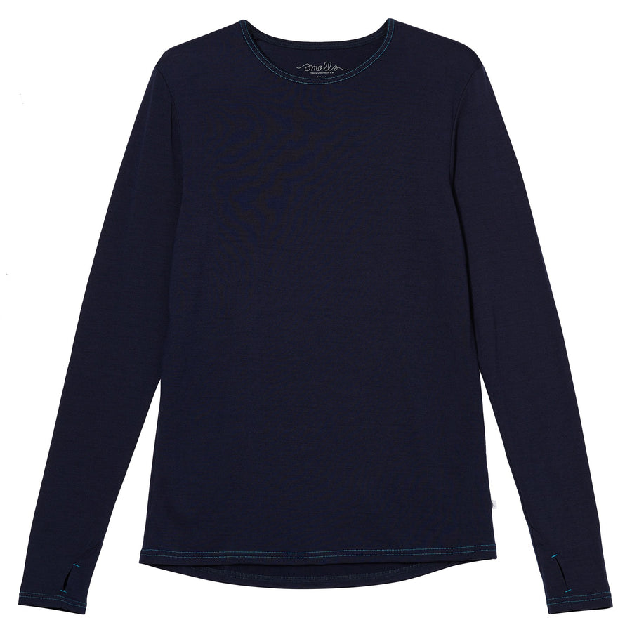 Bluza barbati Smalls lână merinos extra fina - French Navy-Smalls-HipHip.ro