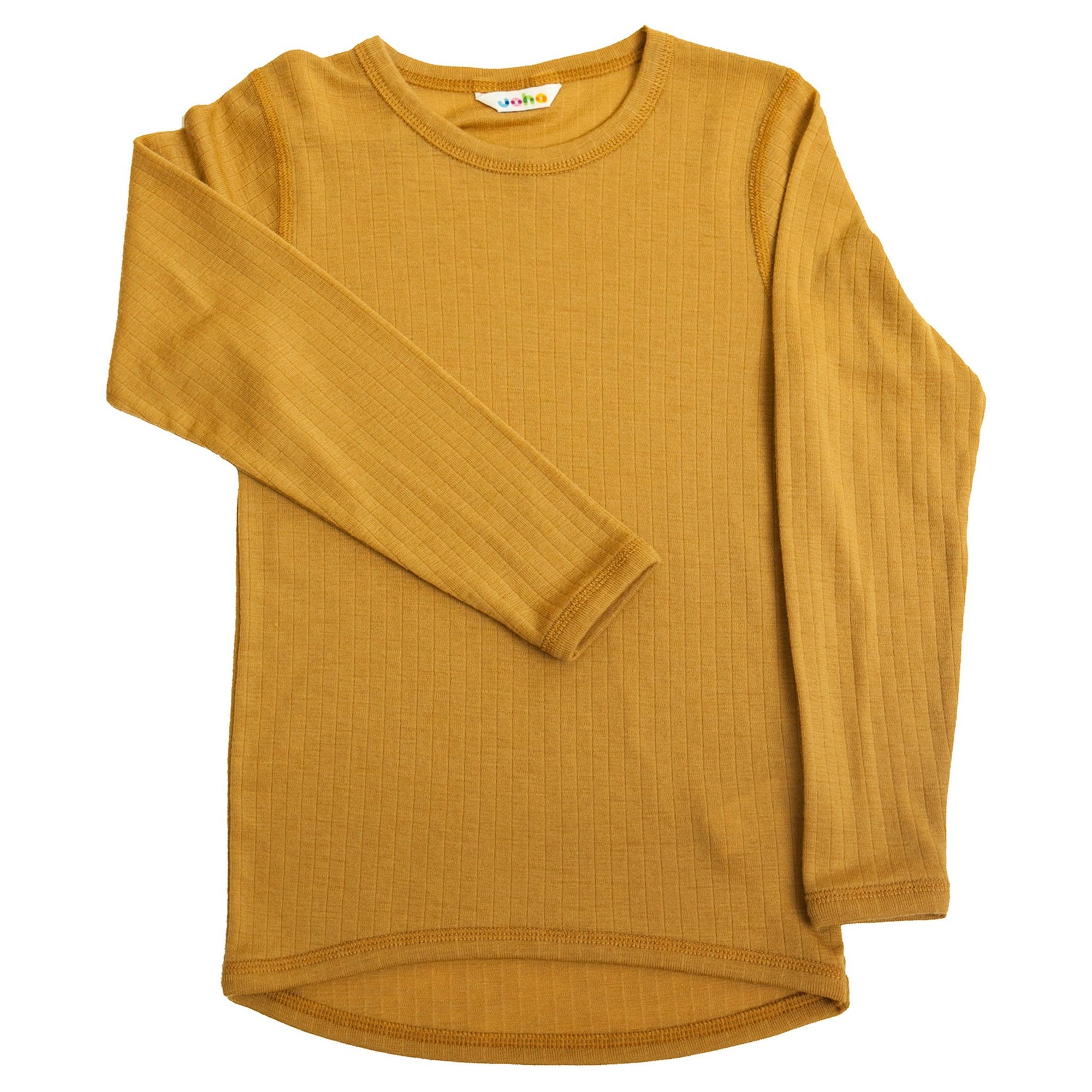 Bluza Joha lână merinos - Basic Curry Yellow-Joha-HipHip.ro