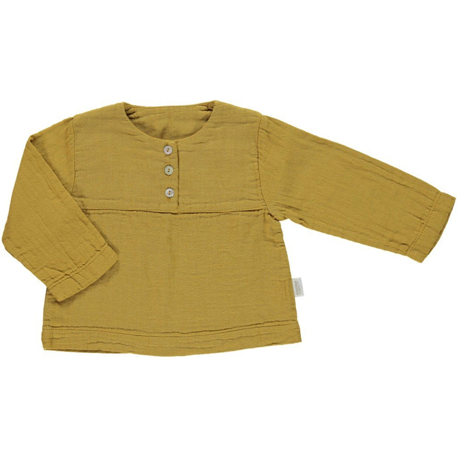 Bluza Poudre Organic din muselina - Cassonade Yellow-Poudre Organic-HipHip.ro