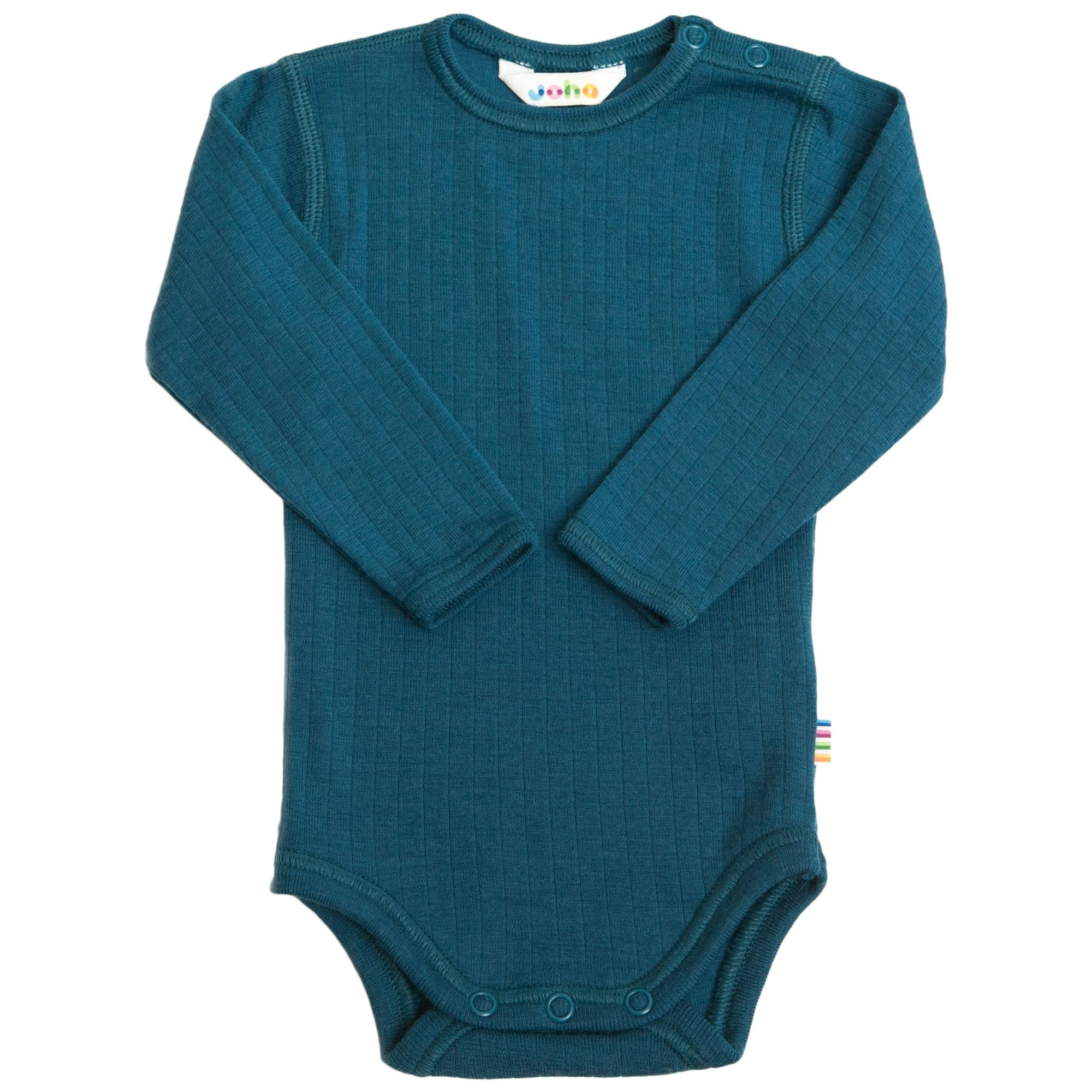 Body Joha din lână merinos - Basic Atlantic Blue-Joha-HipHip.ro