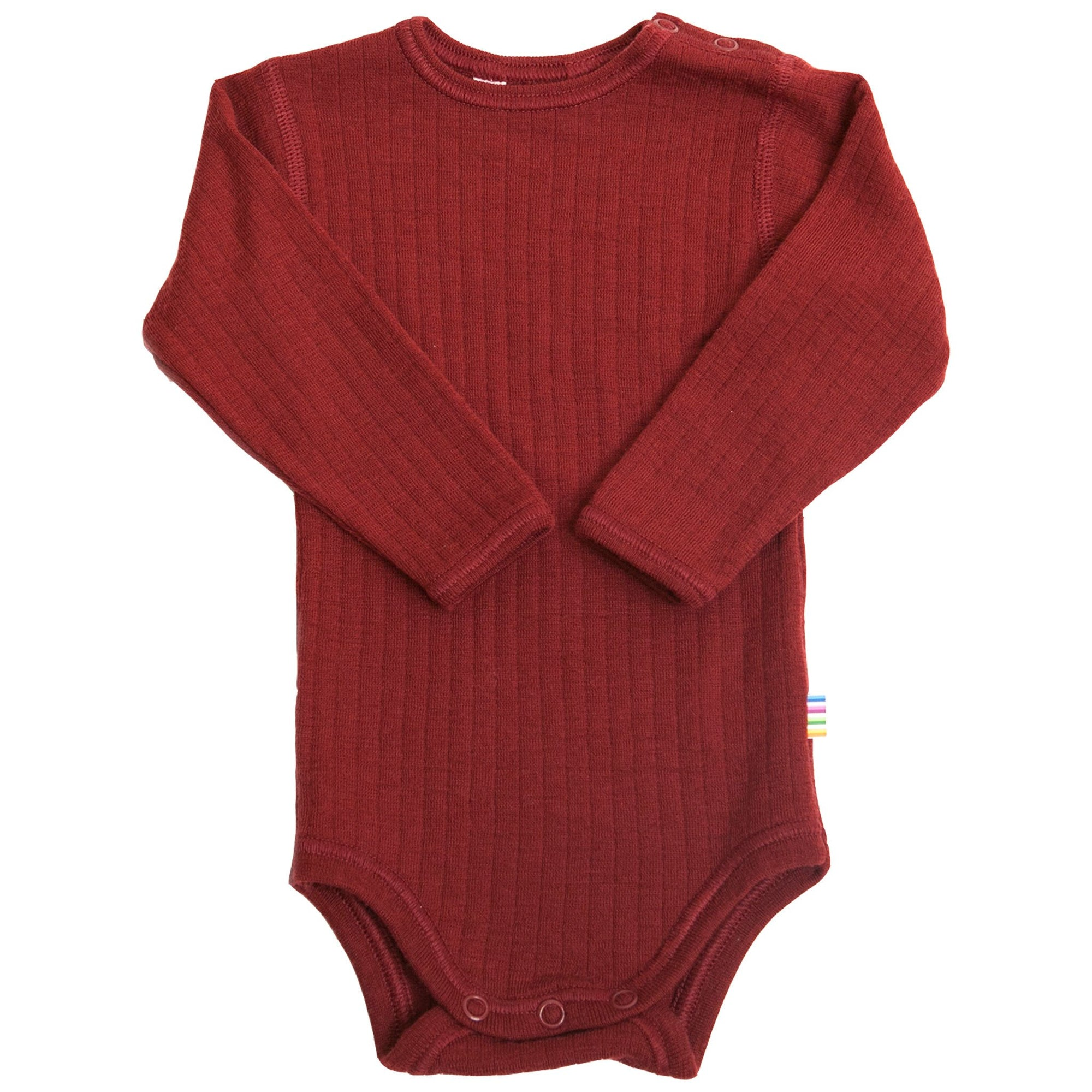 Body Joha din lână merinos - Basic Crimson Red-Joha-HipHip.ro