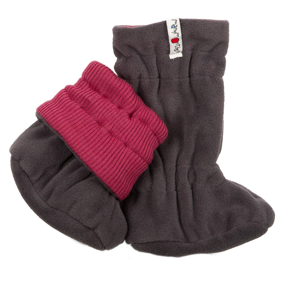 Botosei ManyMonths Winter Booties pt babywearing - Frosted Berry/Magnet Grey-ManyMonths-HipHip.ro