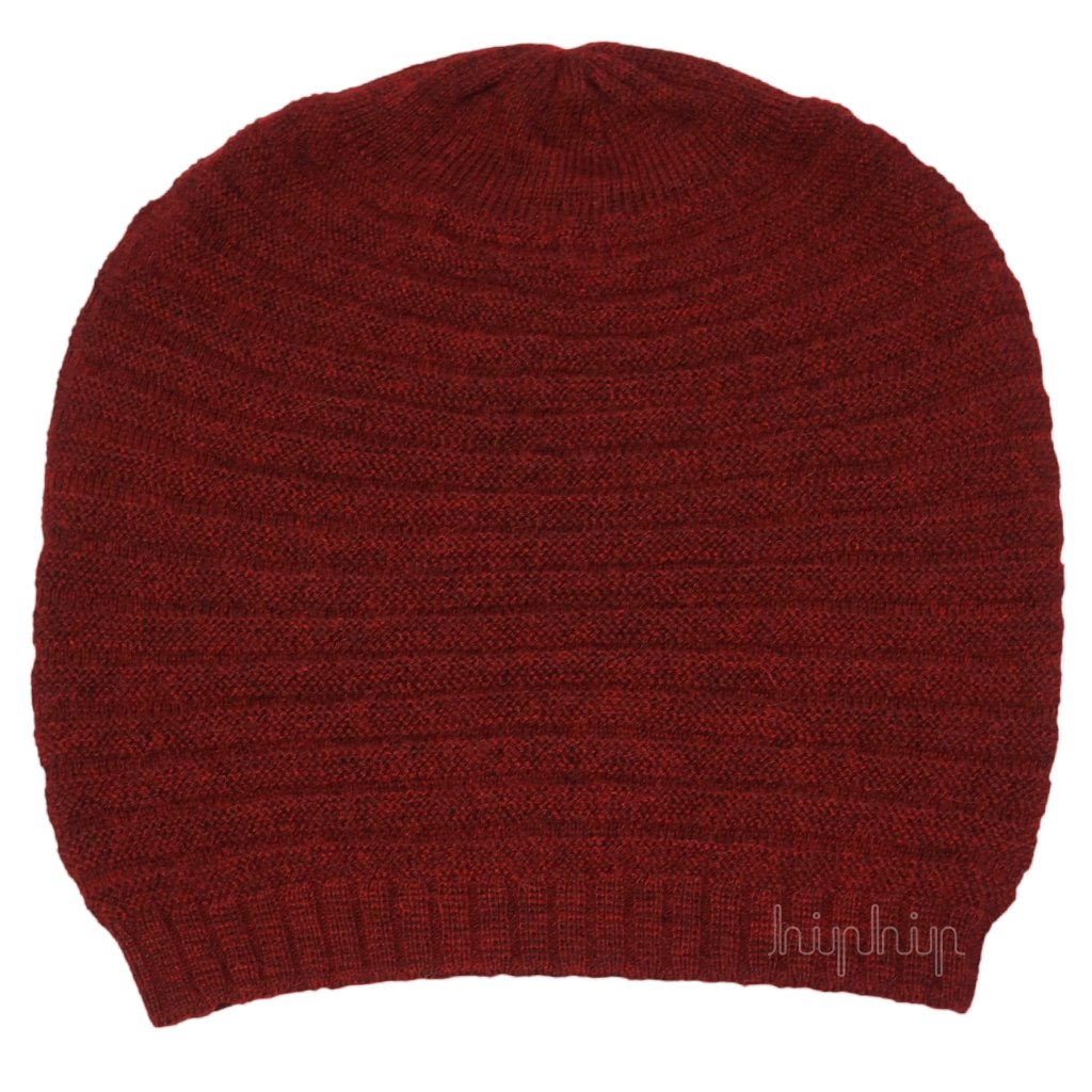 Caciula adulti De Colores baby alpaca - Wine Red-De Colores-HipHip.ro