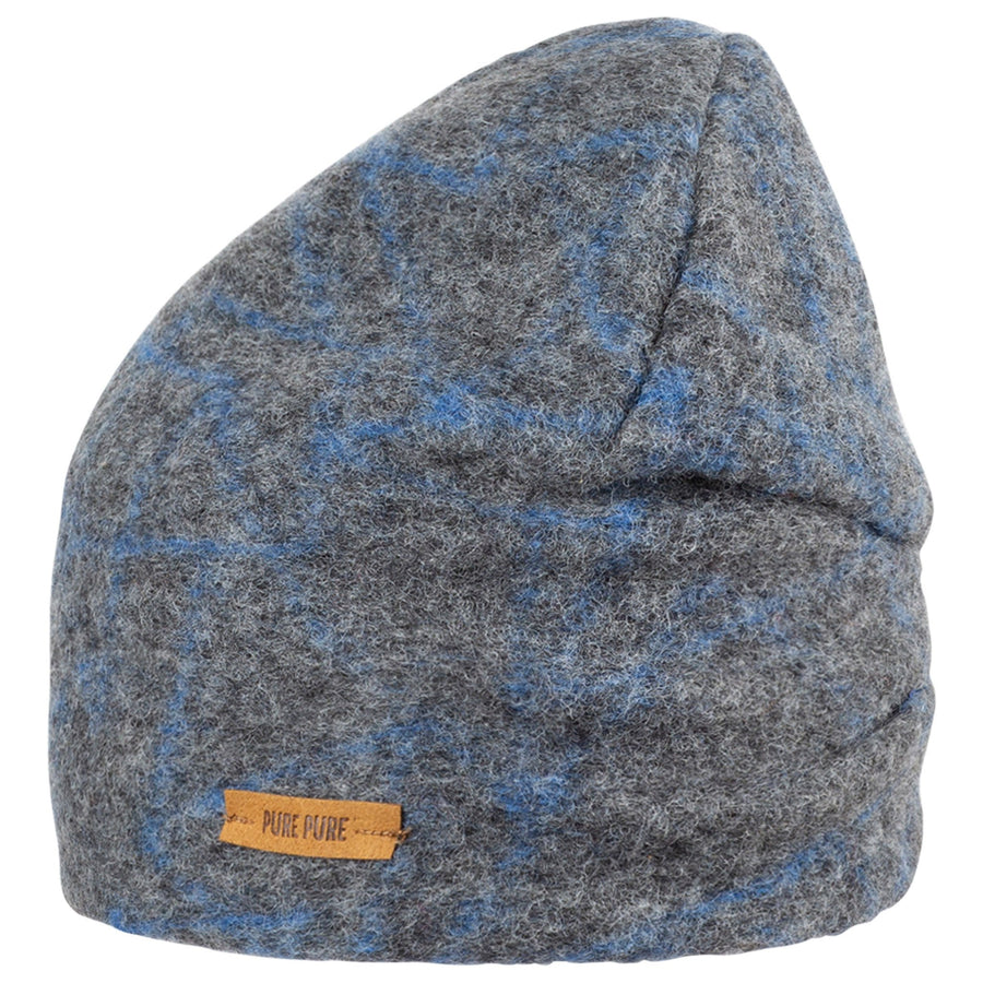 Caciula Pure Pure lână organica boiled wool (long beanie) - Grey/Blue-Pure Pure-HipHip.ro
