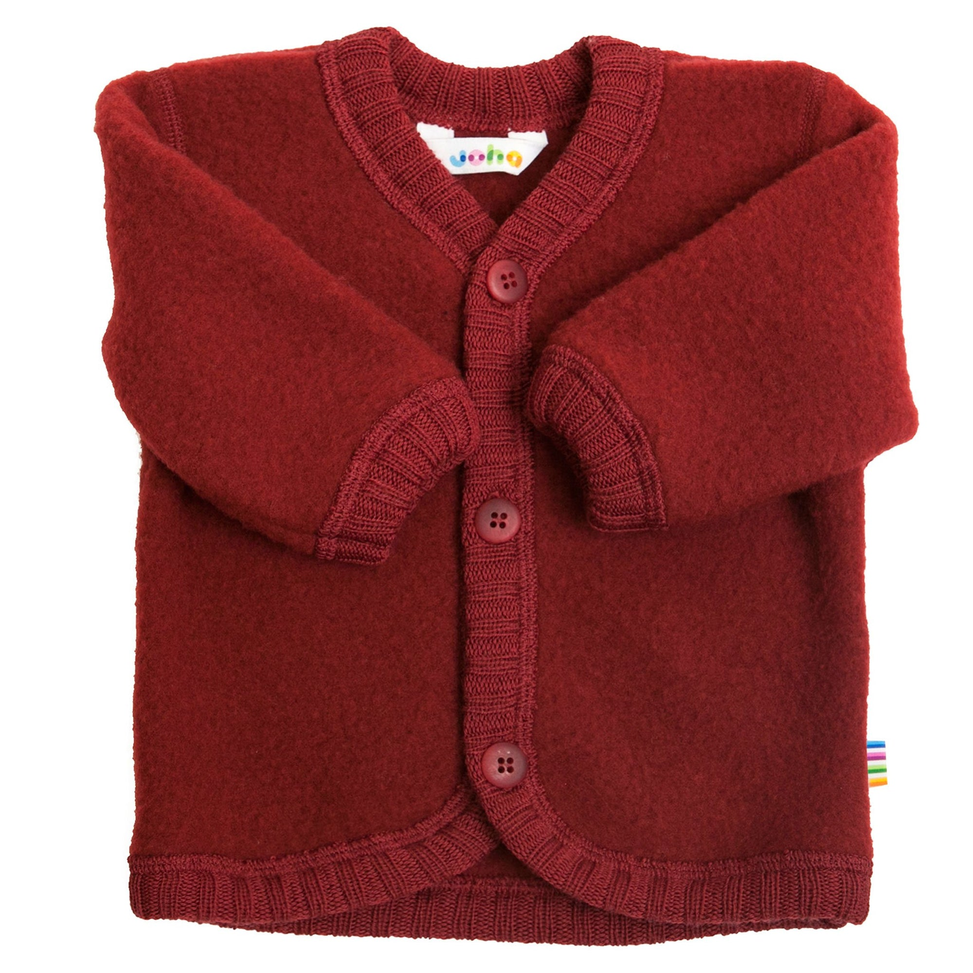 Cardigan Joha fleece lână merinos - Crimson Red-Joha-HipHip.ro