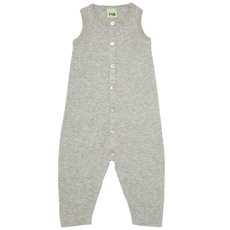 Jumpsuit FUB bumbac organic extra fine knit - Light Grey-FUB-HipHip.ro