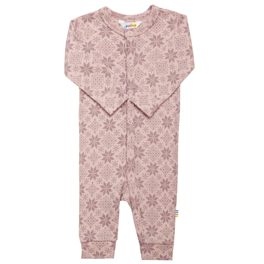 Jumpsuit Joha lână merinos - Snow Crystal Light Purple-Joha-HipHip.ro