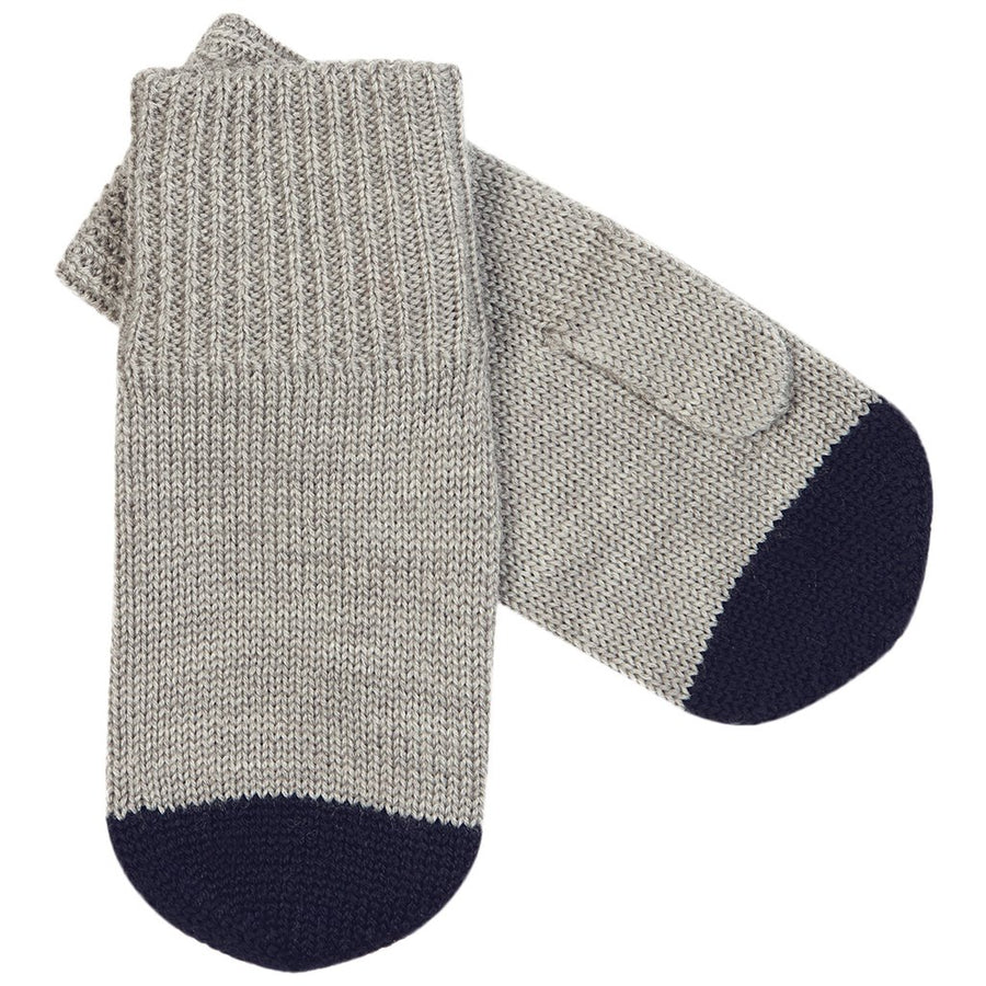 Manusi FUB lână merinos knit - Light Grey/Navy-FUB-HipHip.ro