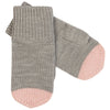 Manusi FUB lână merinos knit - Light Grey/Rose-FUB-HipHip.ro