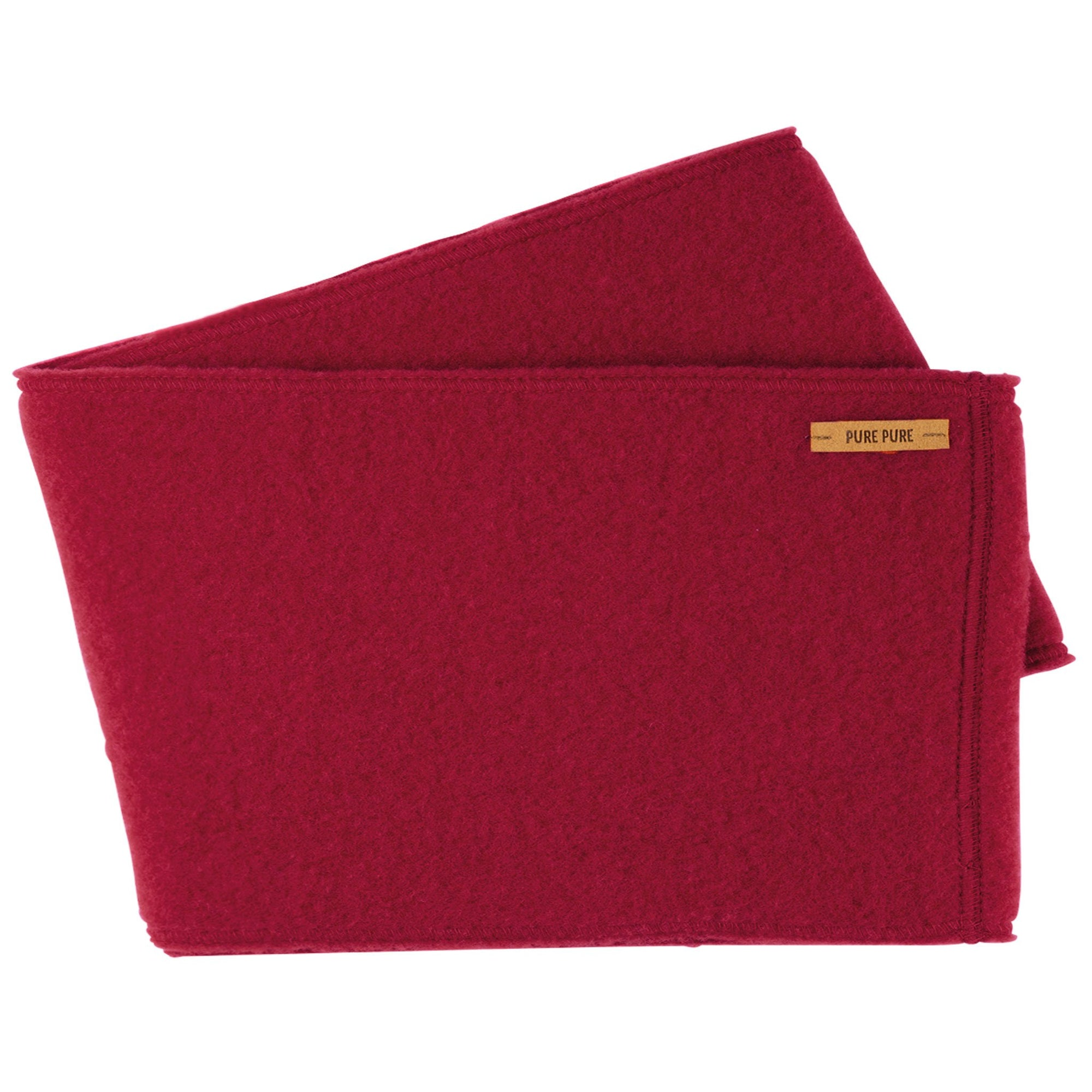 Neckwarmer femei Pure Pure fleece lână organica - Biking Red-Pure Pure-HipHip.ro