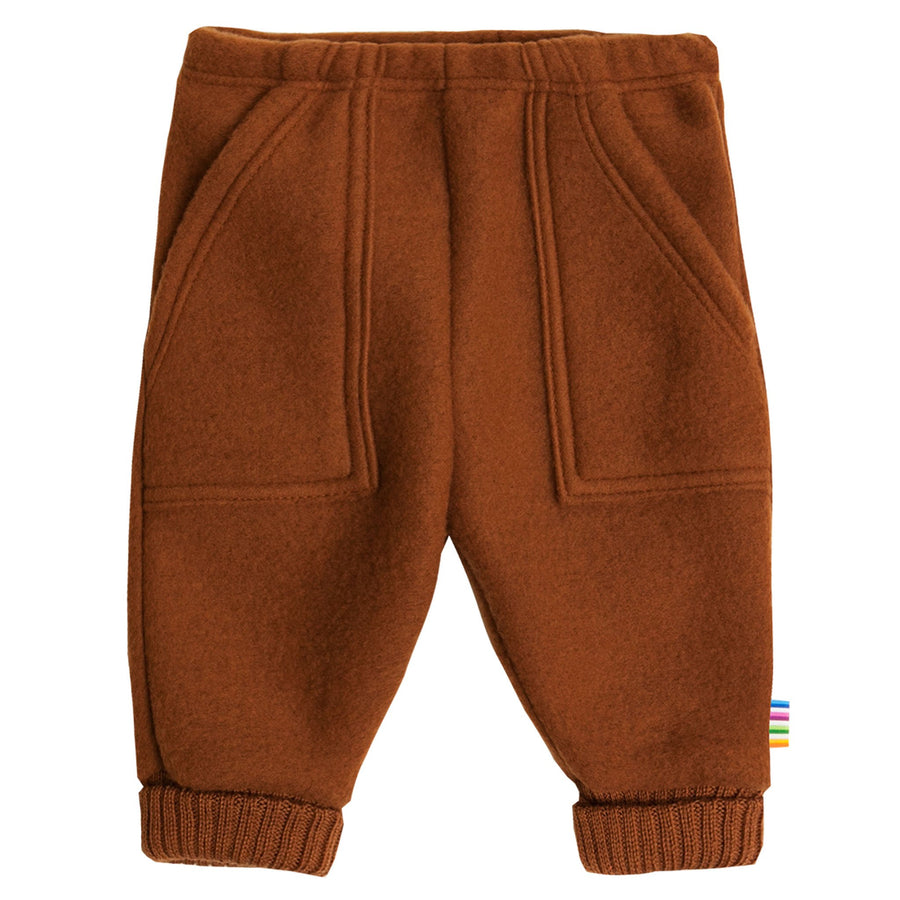 Pantaloni Joha fleece lână merinos - Orange-Joha-HipHip.ro