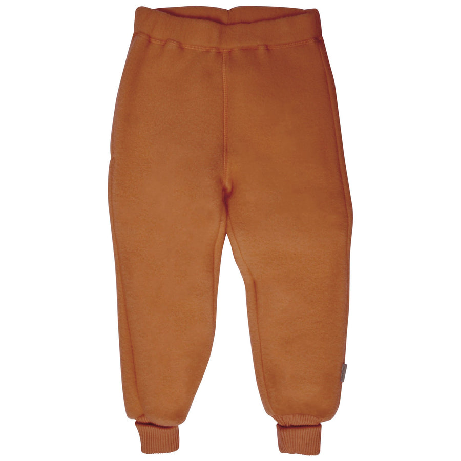 Pantaloni Mikk-line fleece lână merinos - Leather Brown-Mikk-line-HipHip.ro