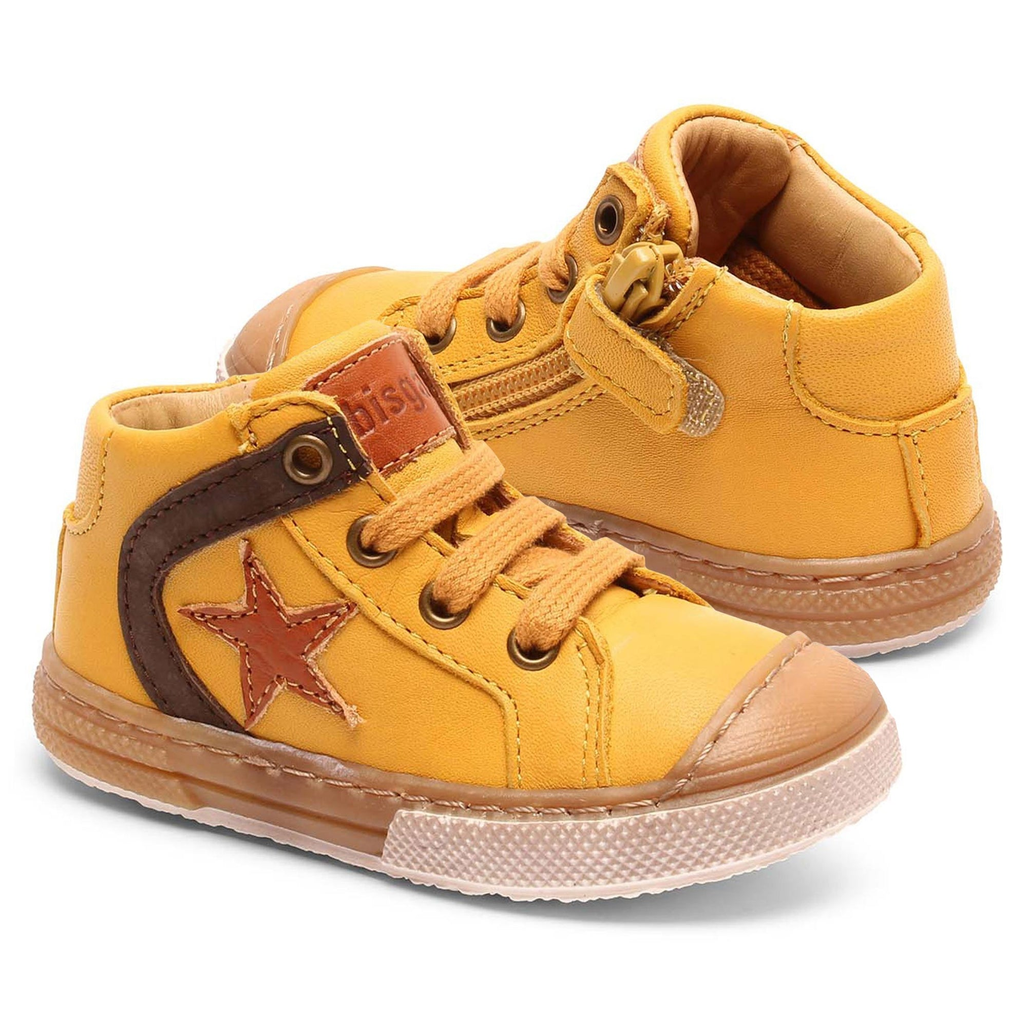 Sneakers First Step Bisgaard piele - Holger Honey-Bisgaard-HipHip.ro