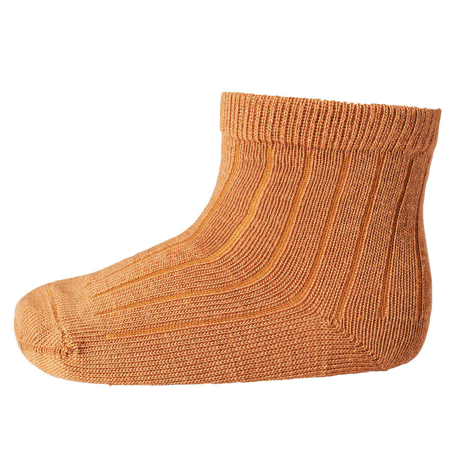 Sosete subtiri mp Denmark lână Wool Rib - Dark Honey-mp Denmark-HipHip.ro