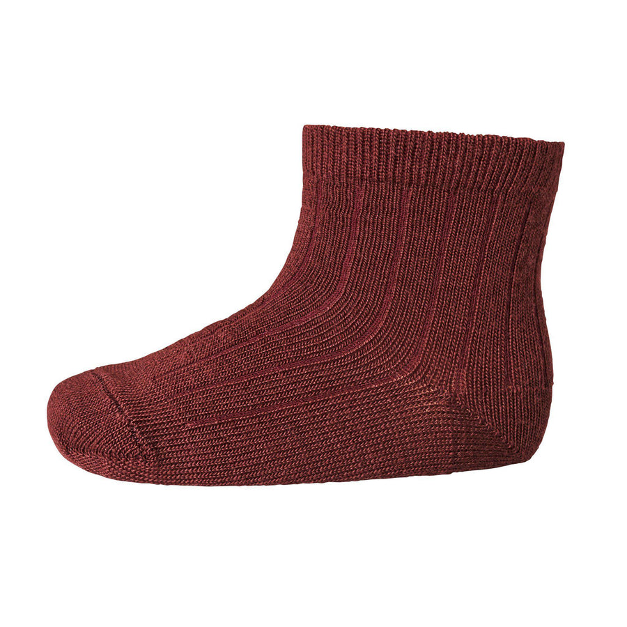 Sosete subtiri mp Denmark lână Wool Rib - Windsor Red-mp Denmark-HipHip.ro