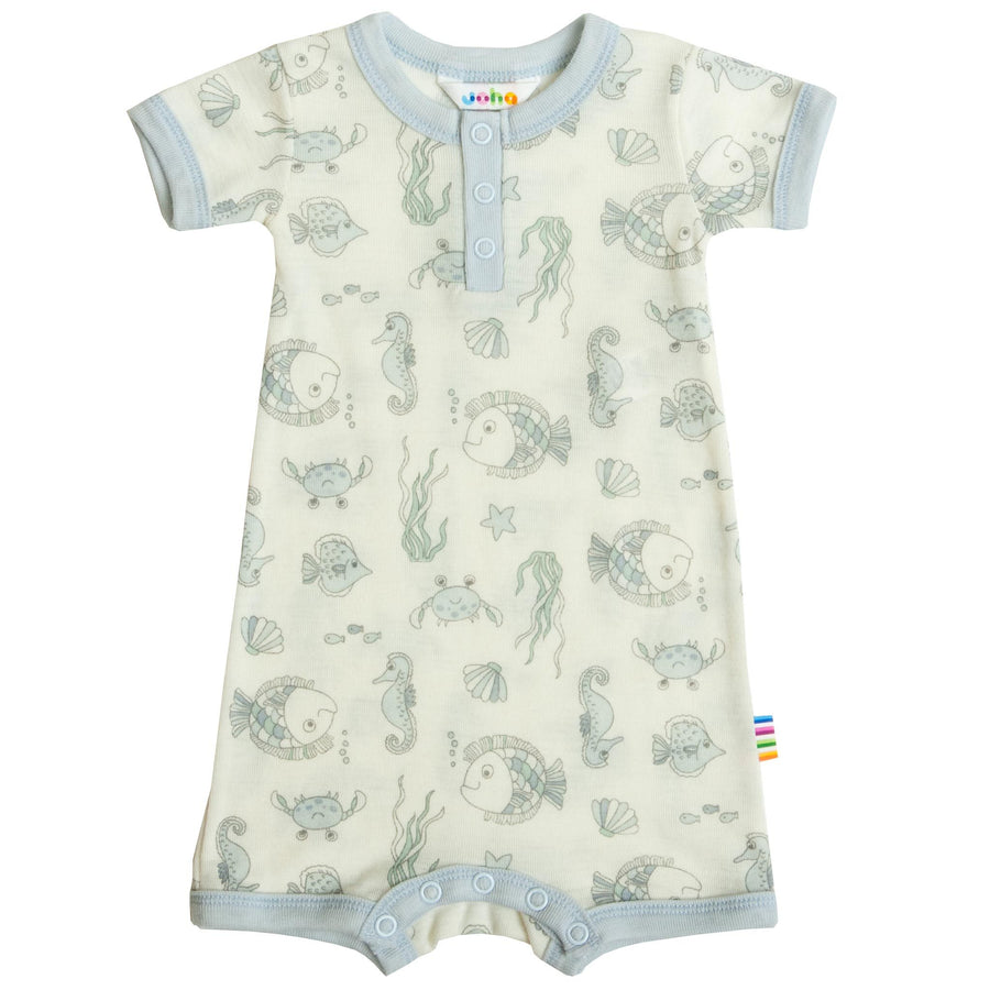 Summersuit Joha lână merinos - Sea Life Light Blue-Joha-HipHip.ro
