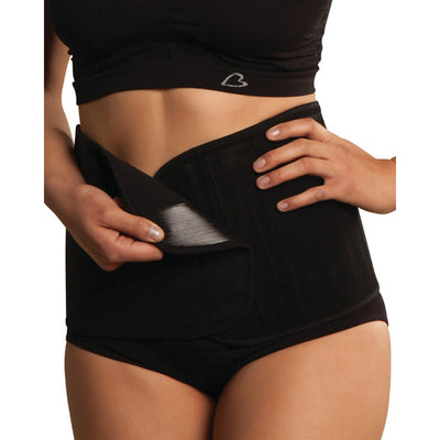Suport post-nastere Carriwell Adjustable Organic Cotton Belly Binder - Negru-Carriwell-HipHip.ro