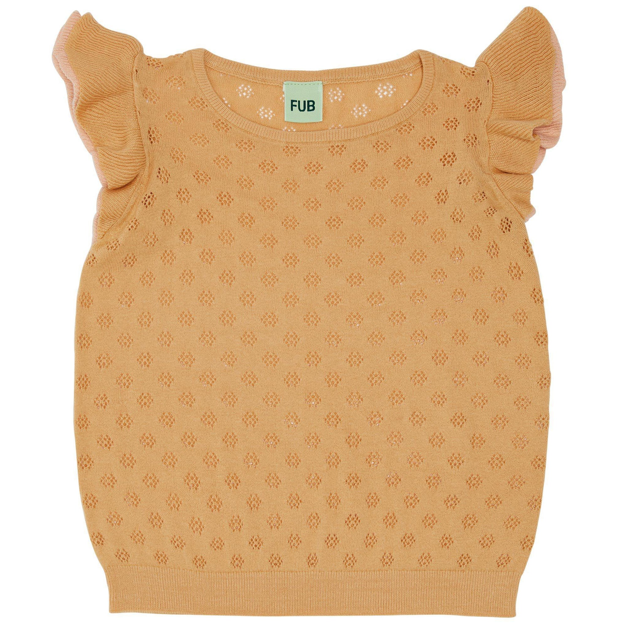 Tricou FUB bumbac organic extra fine knit - Yellow-FUB-HipHip.ro