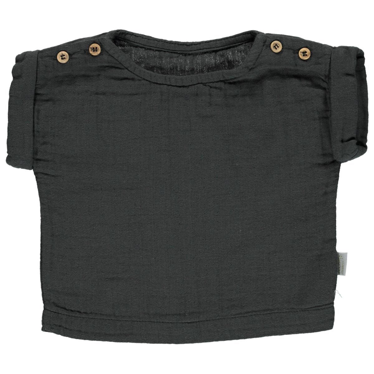 Tricou Poudre Organic din muselina - Pirate Black-Poudre Organic-HipHip.ro