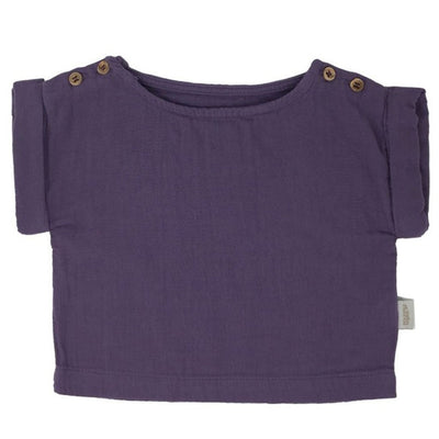 Tricou Poudre Organic din muselina - Ultra Violet-Poudre Organic-HipHip.ro