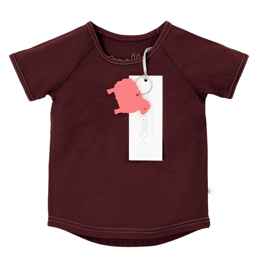 Tricou Smalls lână merinos extra fina - Berry Marle-Smalls-HipHip.ro