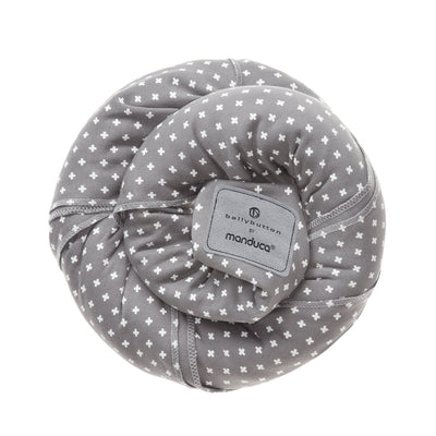 Wrap elastic Manduca BellyButton WildCrosses Grey-Manduca-HipHip.ro